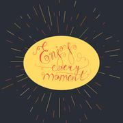 Lettering motivation poster - stock illustration