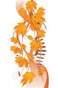 Stock Illustration of Maple leaves ornament