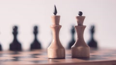 Chess King and Queen Radial Dolly Stock Footage