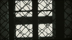 Jail window - zoom out Stock Footage