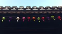 Colorful lanterns Stock Footage