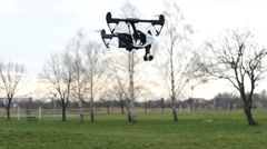 Quadcopter.hexacopter flying machine  Stock Footage