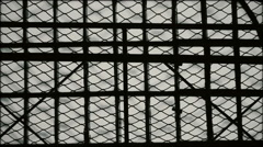 Jail window with grid Stock Footage