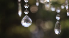 Decoration of Glass Beads on Nature Stock Footage