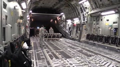 BAGRAM AFGHANISTAN, JANUARY 2016, US Soldiers Push Supply In Aircraft Stock Footage