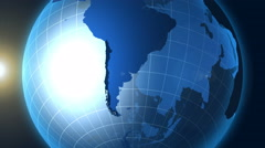 Chile. Zooming into Chile on the globe. Stock Footage