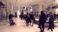 British Museum tourists enjoy historic display London England 4K Stock Footage