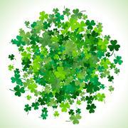 St Patrick's Day background. Vector illustration - stock illustration