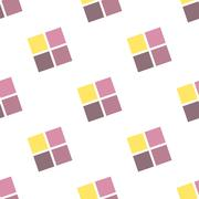 Seamless Colorful Abstract Pattern from Repetitive Concentric Squares Stock Illustration