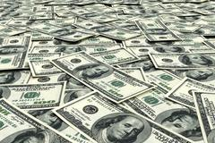 Stock Illustration of Money background from dollars