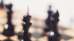 Chess Dramatic Move - stock footage