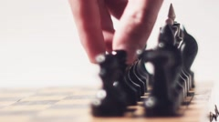 Chess Pawn Move Radial Dolly Stock Footage