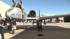 TUCSON USA, JANUARY 2016, A-10 Thunderbold Aircraft In Parking Position - stock footage