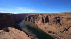 Colorado river in Glen Canyon - Arizona - stock footage