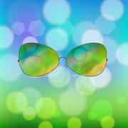 Colorful Sun Glasses Piirros