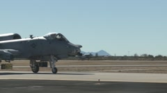 TUCSON USA, JANUARY 2016, US Air Force A-10 Thunderbolt Aircraft Roll Over - stock footage
