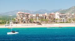 Cabo San Lucas Mexico Beachfront Resort Stock Footage