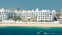 Beach Front Hotel in Cabo San Lucas Mexico Stock Footage