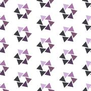 Seamless Colorful Abstract Pattern from Repetitive Concentric Triangles Stock Illustration