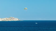Parasailing Excursion in Cabo San Lucas Mexico Stock Footage