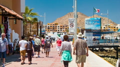 Tourists Welcome to Los Cabos San Lucas Mexico Stock Footage