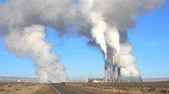 Thermal power plant smoke - Arizona Stock Footage