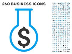 Financial Alchemy Icon with Flat Vector Set Stock Illustration