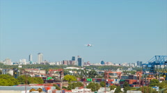 Commercial Airplane Landing in Buenos Aires Argentina - stock footage