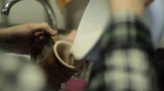 Ceramic Cups. Handmade. - stock footage