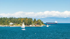 Nanaimo Harbour Canada Stock Footage
