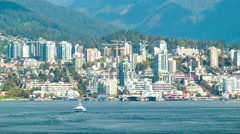 Vancouver North Close-up Buildings in British Columbia Canada Stock Footage
