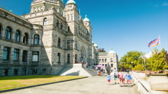 British Columbia Legislature Victoria BC Parliament Buildings - stock footage