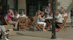 Cafe culture in Melrose, Scottish Borders Stock Footage