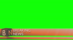 Breaking news lower third 3rd chyron l3rd loop 4k - stock footage