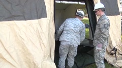 LOUISIANA USA, JANUARY 2016, US Soldiers Cover The Bottom Tent Stock Footage