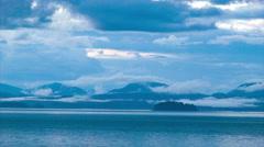 Early Blue Canadian Alaskan Coastline Stock Footage