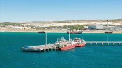 Puerto Madryn Argentina Industrial Dockyard Stock Footage