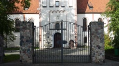 Church of Immaculate Conception in Nidzica, Poand Stock Footage