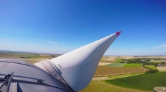 View from the top of a german windenergy turbine. Stock Footage
