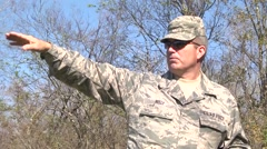 LOUISIANA USA, JANUARY 2016, US Air Force Officer Gives Commands Stock Footage