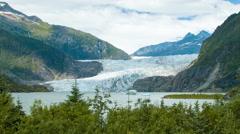 Mendenhall Glacier in Juneau Alaska Stock Footage