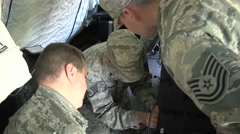 LOUISIANA USA, JANUARY 2016, US Air Force Soldiers Connect Technic Equipment - stock footage