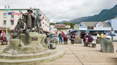 Ketchikan Alaska The Rock Bronze Statues Stock Footage