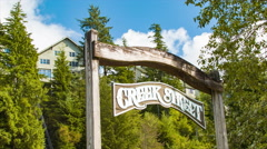 Creek Street Signage in Ketchikan Alaska Stock Footage