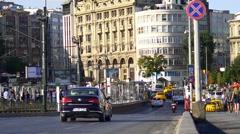 Karakoy Neighborhood Street View Stock Footage