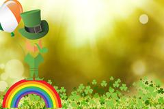 Picture for st patricks day with shamrock Stock Illustration