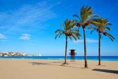 Cullera Sant Antoni beach San Antonio in Valencia - stock photo