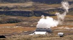 Reykjavik neighborhood: geothermal geothermal power station - stock footage