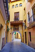 Valencia Portal de Valldigna arch barrio del Carmen - stock photo