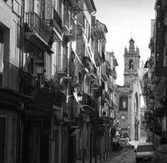 Stock Photo of Valencia Bolseria street Barrio del Carmen Spain
